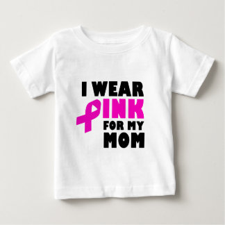 Camiseta De Bebé llevo el rosa para mi madre