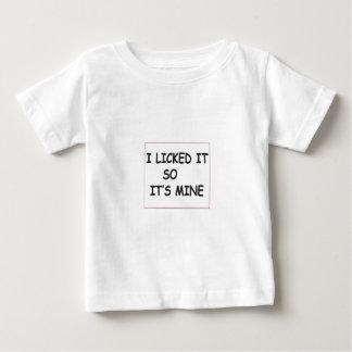 Camiseta De Bebé Lo lamí
