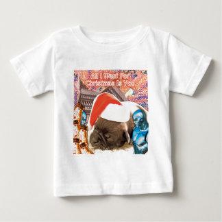 Camiseta De Bebé Lo único que quiero para el navidad es usted