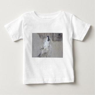 Camiseta De Bebé Lobo gris del grito