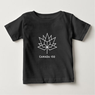 Camiseta De Bebé Logotipo del funcionario de Canadá 150 - blanco y