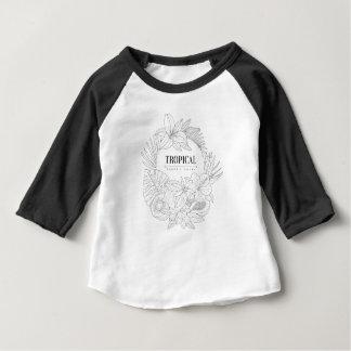 Camiseta De Bebé Logotipo tópico de frutas y de las plantas