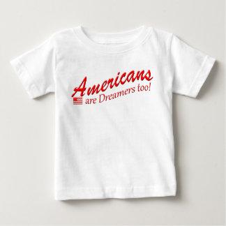 Camiseta De Bebé ¡Los americanos son soñadores también! favorable