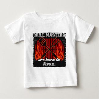 Camiseta De Bebé Los amos de la parrilla nacen en abril