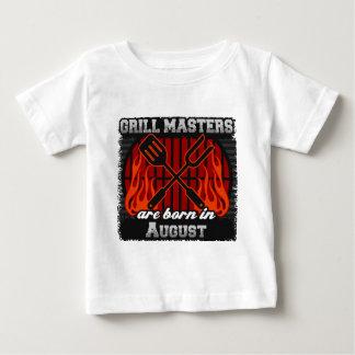 Camiseta De Bebé Los amos de la parrilla nacen en agosto