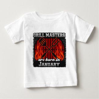 Camiseta De Bebé Los amos de la parrilla nacen en enero