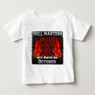 Camiseta De Bebé Los amos de la parrilla nacen en octubre