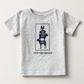 Camiseta De Bebé Los animales del campo apilados personalizaron