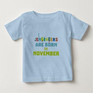 Camiseta De Bebé Los ingenieros son en noviembre Za7ra nacidos