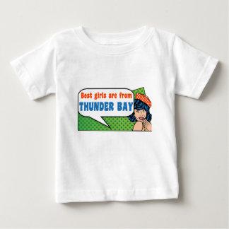 Camiseta De Bebé Los mejores chicas son de Thunder Bay