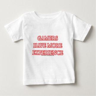 Camiseta De Bebé Los videojugadores tienen más experiencia