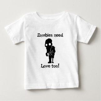 Camiseta De Bebé Los zombis necesitan amor también
