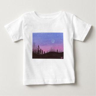 Camiseta De Bebé Luna y estrellas de Lansing