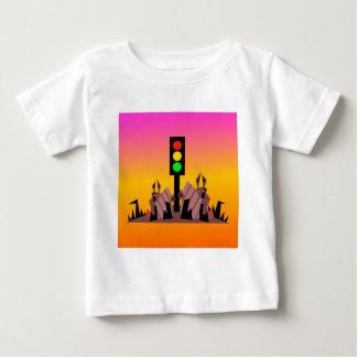 Camiseta De Bebé Luz de parada con los conejitos, fondo soñador