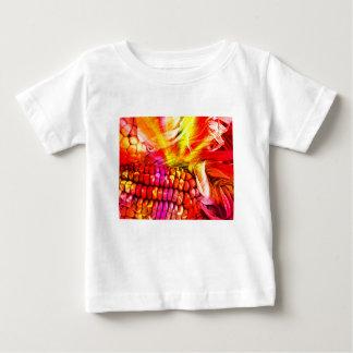 Camiseta De Bebé maíz rayado caliente