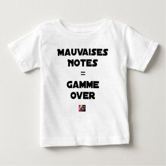 Camiseta De Bebé MALAS NOTAS = GAMA OVER - Juegos de palabras