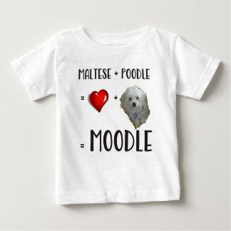 Camiseta De Bebé Maltés + Caniche = Moodle