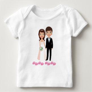 Camiseta De Bebé Mamá Papa
