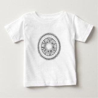 Camiseta De Bebé mandala de la flor del diente de león