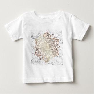 Camiseta De Bebé Mandala - oro y mármol