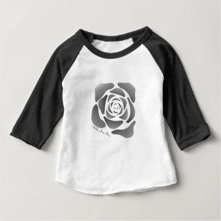 Camiseta De Bebé Manga larga subió Jean del bebé blanco y negro de