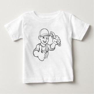 Camiseta De Bebé Manitas del mecánico o del fontanero con el dibujo