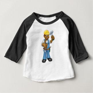 Camiseta De Bebé Manitas negra del carpintero