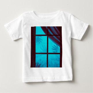 Camiseta De Bebé Manos del fantasma en ventana
