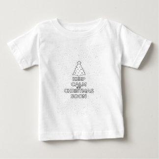 Camiseta De Bebé MANTENGA TRANQUILO ÉL ES CHRISMAS SOON.ai