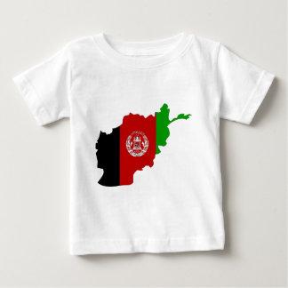 Camiseta De Bebé Mapa de la bandera de Afganistán del mismo tamaño