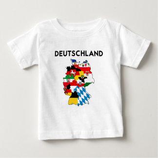 Camiseta De Bebé mapa de la bandera de Alemania