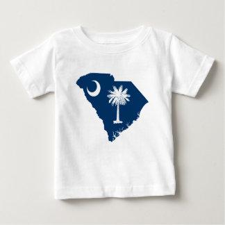 Camiseta De Bebé Mapa de la bandera de Carolina del Sur