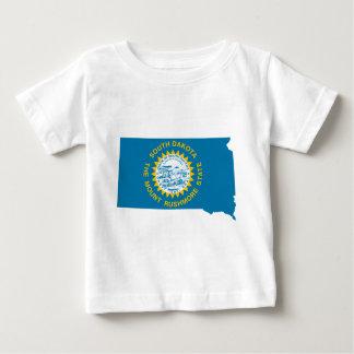 Camiseta De Bebé Mapa de la bandera de Dakota del Sur