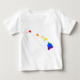 Camiseta De Bebé Mapa de la bandera de Hawaii LGBT