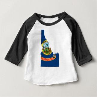 Camiseta De Bebé Mapa de la bandera de Idaho