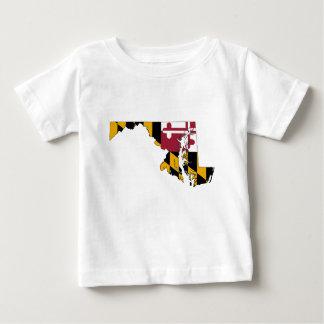 Camiseta De Bebé Mapa de la bandera de Maryland