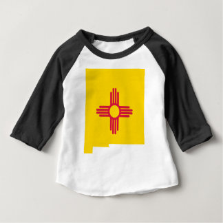Camiseta De Bebé Mapa de la bandera de New México