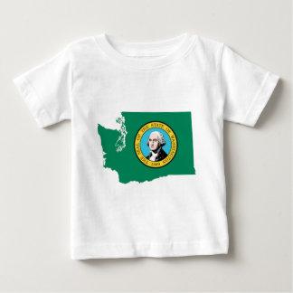 Camiseta De Bebé Mapa de la bandera de Washington