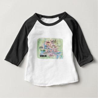 Camiseta De Bebé Mapa retro del vintage de Berlín Alemania