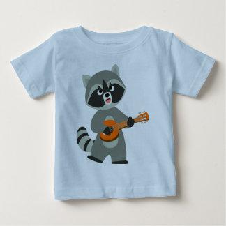 Camiseta De Bebé Mapache lindo del dibujo animado que juega la