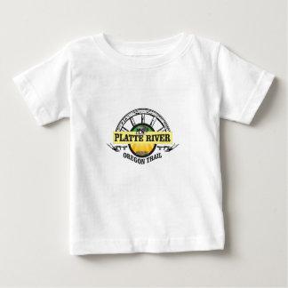 Camiseta De Bebé marcador del ot del río Platte