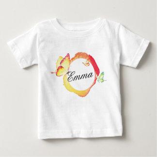 Camiseta De Bebé Mariposas de la acuarela