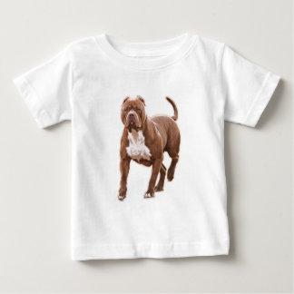 Camiseta De Bebé Marrón del pitbull