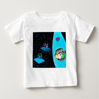 Camiseta De Bebé Martian y vacas