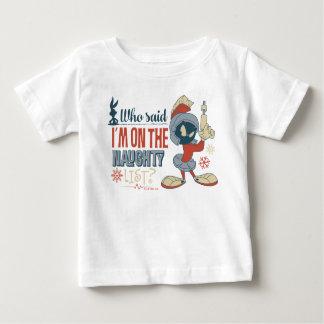 Camiseta De Bebé ¿MARVIN EL MARTIAN™- estoy en la lista traviesa?