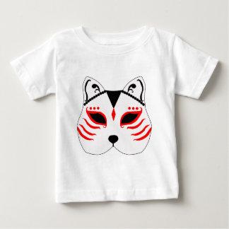 Camiseta De Bebé Máscara japonesa del gato