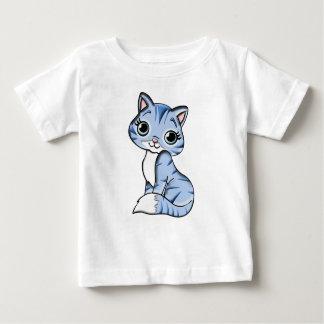 Camiseta De Bebé Mascota felino del gato azul animal del dibujo