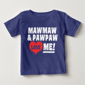 Camiseta De Bebé MawMaw y la papaya me aman