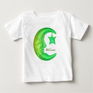 Camiseta De Bebé Media luna brillante mágica con la estrella -