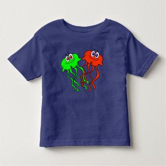 Camiseta De Bebé Medusas lindas del dibujo animado del vector